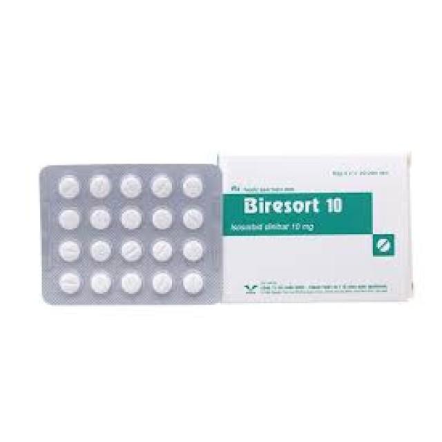 Biresort 10mg hộp 60 viên ( Thuốc trị đau thắt ngực)
