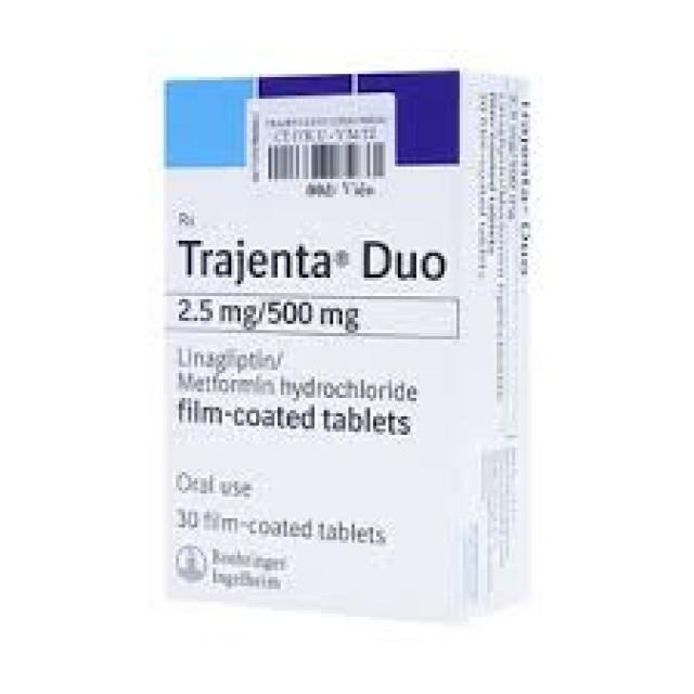 Trajenta Duo 2.5mg/500mg hộp 30 viên