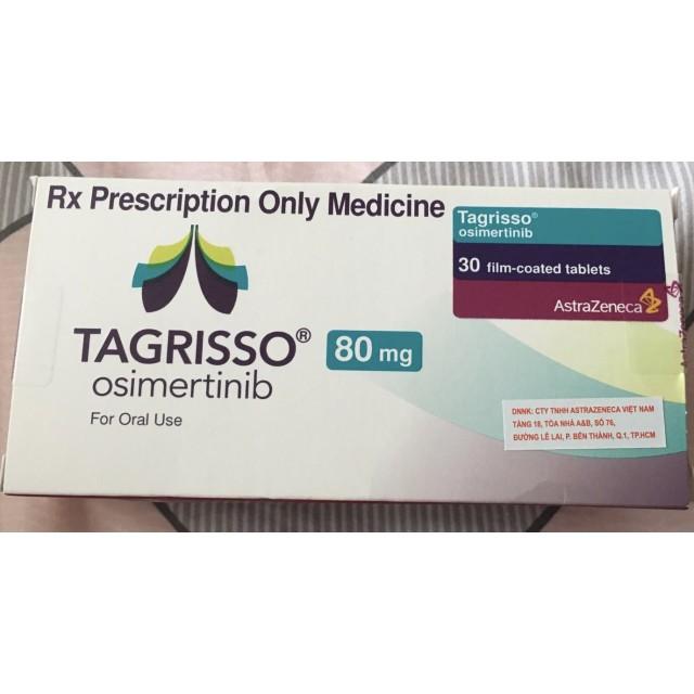 TAGRISSO 80 mg H/30 viên (  liệu pháp trúng đích điều trị ung thư phổi không tế bào nhỏ giai đoạn 4 EGFR+)