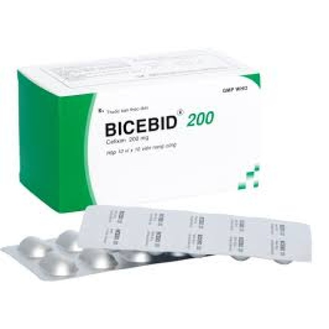 Bicebid 200mg Kháng sinh H/100 viên