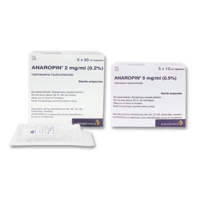 ANAROPIN 5MG/ML 10 ml H/5 lo