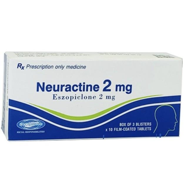 Neuractine 2mg H/30 viên ( điều trị chứng rồi loạn giấc ngủ)