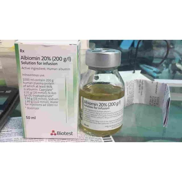 Albiomin (Human Albumin 20% 50ml Biotest) Đức