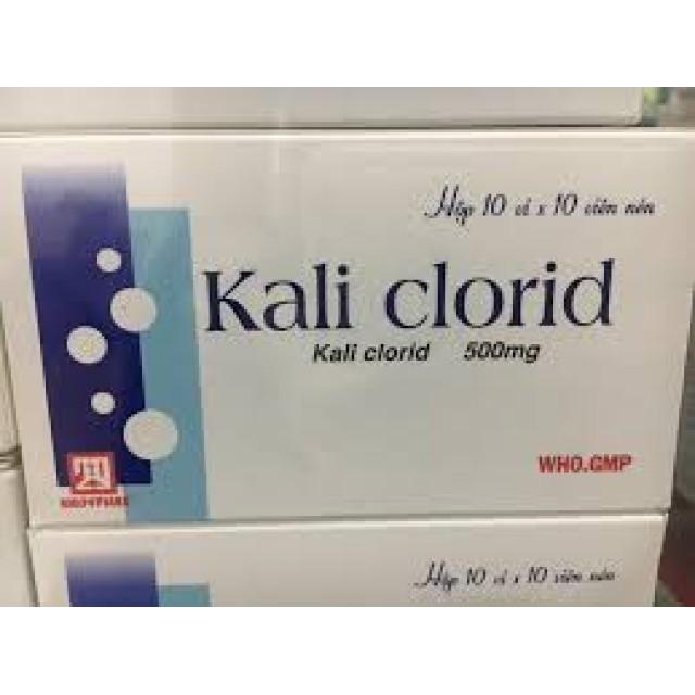 Kali clorid 500mg  H/100 viên Xí nghiệp 2/9