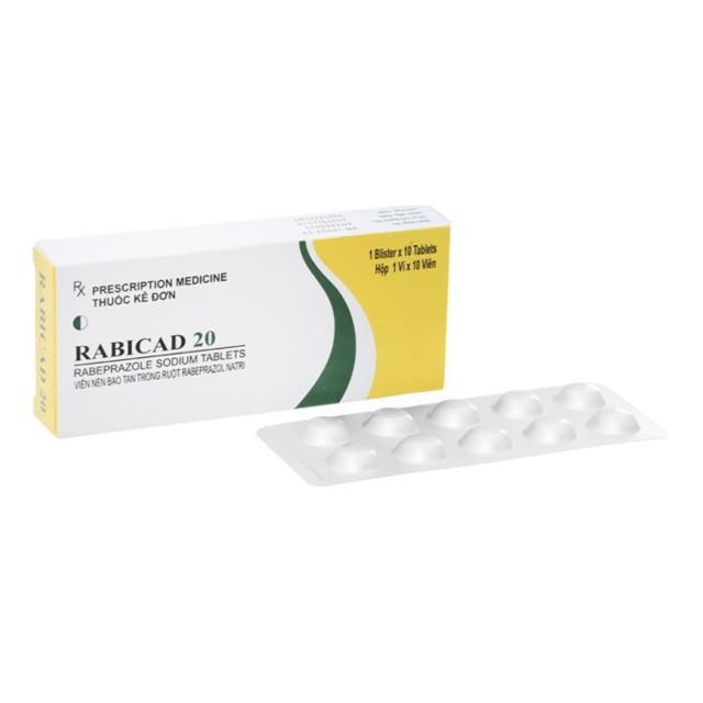 Rabicad 20mg H/10 viên ( Thuốc trị loét dạ dày, tá tràng)