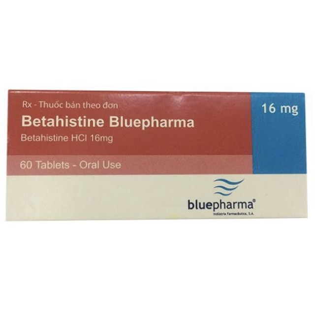 Betahistine 16 mg Bluepharma H/60 viên