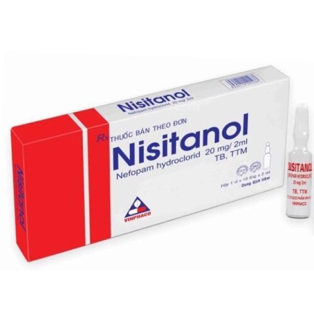 Nisitanol 20 mg/2 ml H/10 ống giảm đau