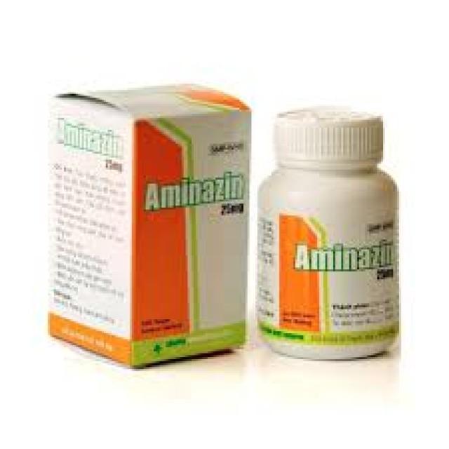 Aminazin 25mg chai/100 viên
