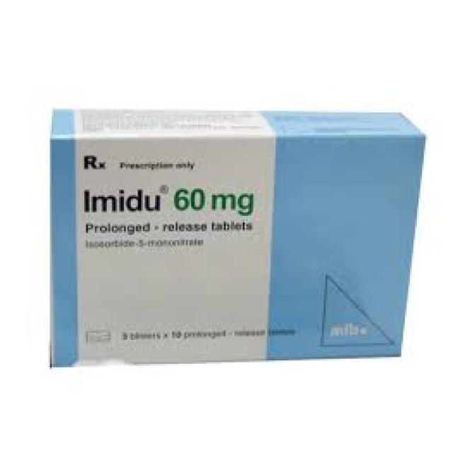 Imidu 60mg H/30 viên phòng ngừa cơn đau thắc ngực