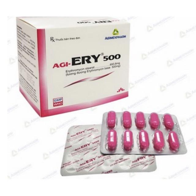 Erythromycin 500mg Mekophar H/100 viên