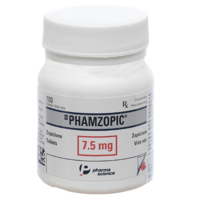 Phamzopic 7.5mg chai 100 viên ( Thuốc trị rối loạn giấc ngủ)