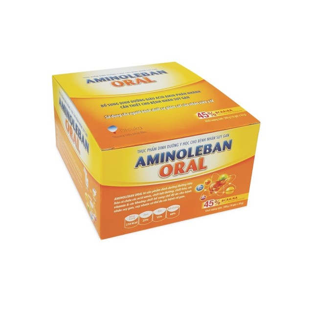 Aminoleban Oral Hộp 10 gói dùng cho bệnh nhân suy gan