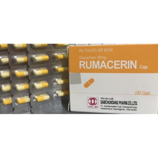 RUMACERIN 50MG H/100 viên (ĐIỀU TRỊ CÁC BỆNH XƯƠNG KHỚP)