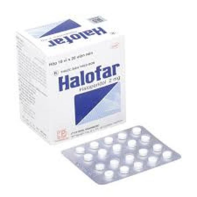 Halofar 2Mg H/100 viên ( trị các biểu hiện rối loạn tâm thần.)