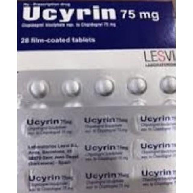 Ucyrin 75mg ( Clopidogrel )H/28 viên
