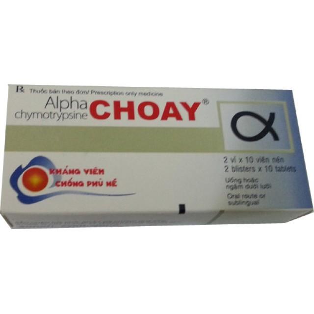 Alphachymotrypsine choay H/20 v