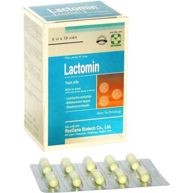 Lactomin 400 mg H/60 viên (bổ sung 3 loại men vi sinh có ích