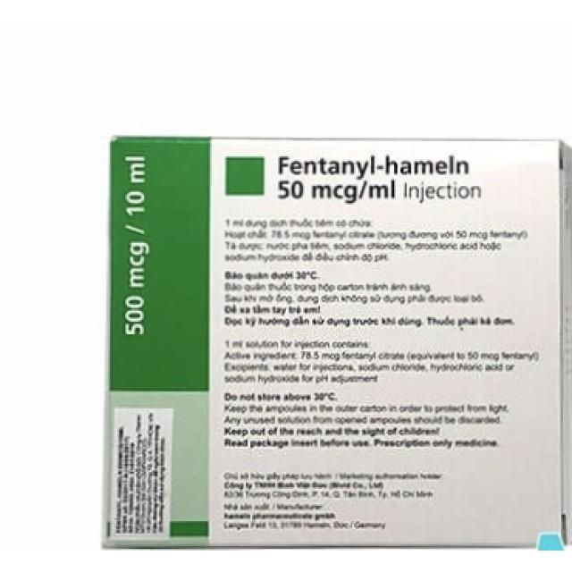Fentanyl Hameln 50mcg/ml H/10 ống