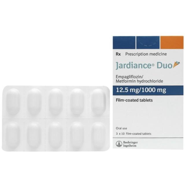 Jardiance Duo 12.5mg/1000mg H/30 viên ( thuốc trị tiểu đường)