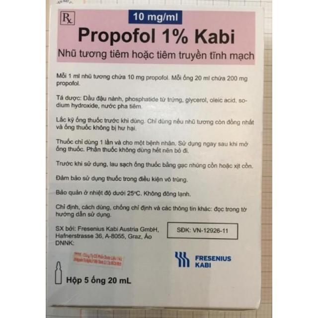 Propofol 1% Kabi - 20ml H/5 o