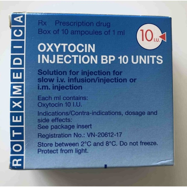 Oxytocin 10 IU H/10 ống