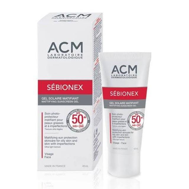 Sebionex Mattifying Sunscreen Gel SPF 50 (40 ml)(Gel chống nắng cho da mụn)
