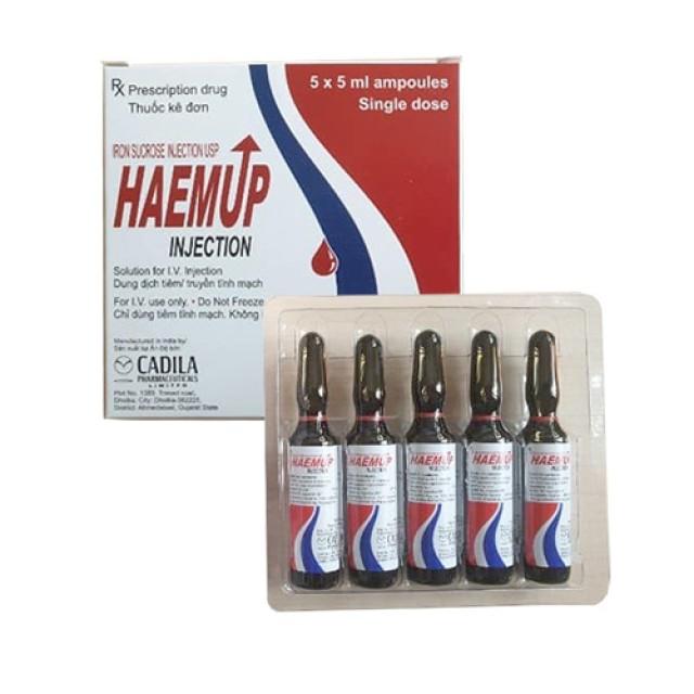 Haemup injection H/5 ống 5 ml (Thuốc tiêm sắt của Cadila Ấn Độ)