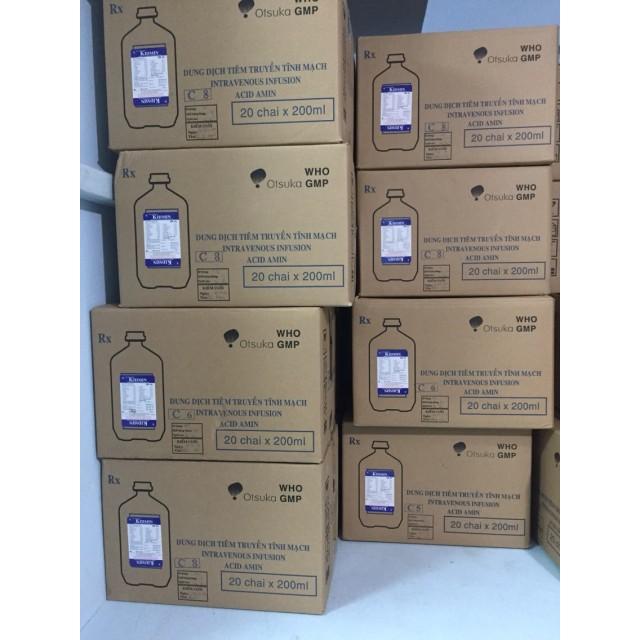 Kidmin 200 ml (Dinh dưỡng đường tĩnh mạch trong bệnh gan)