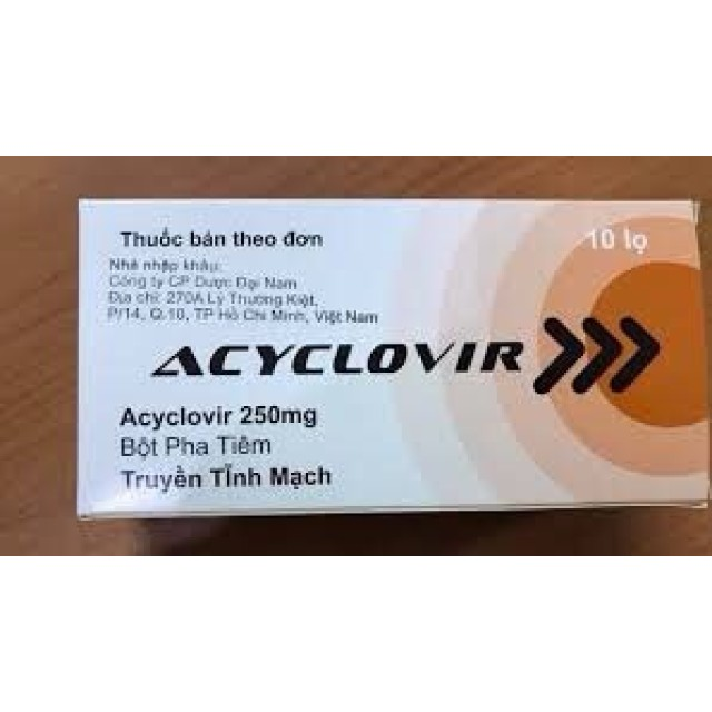 Acyclovir 250 mg Bột pha tiêm H/10 lọ