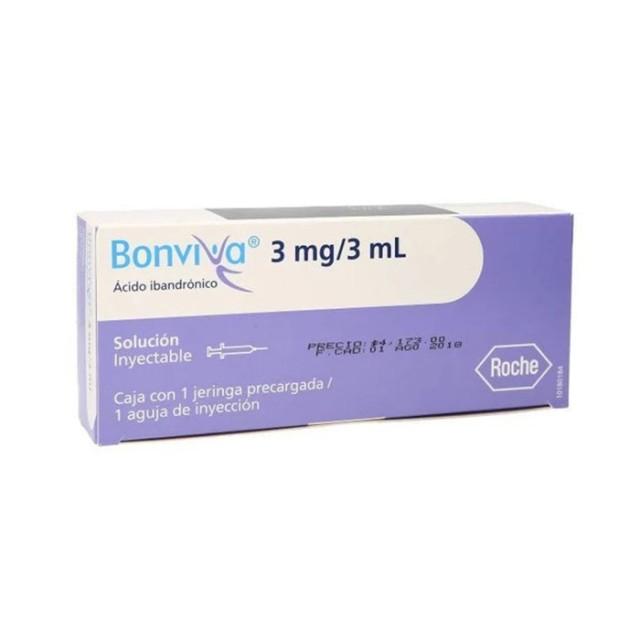 Bonviva 3Mg/3ML Inj H/1 bơm tiêm ( Thuốc tiêm loãng xương)