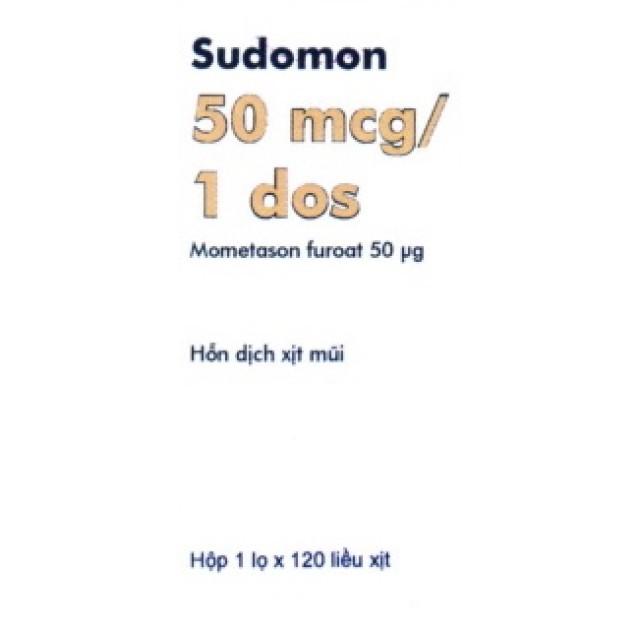 Sudomon Spray Nasal 50Mcg H/1 lọ 120 liều xịt