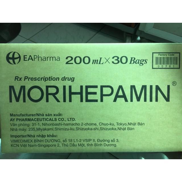 Morihepamin 200 ml thùng 30 bags dịch truyền đạm giải độc