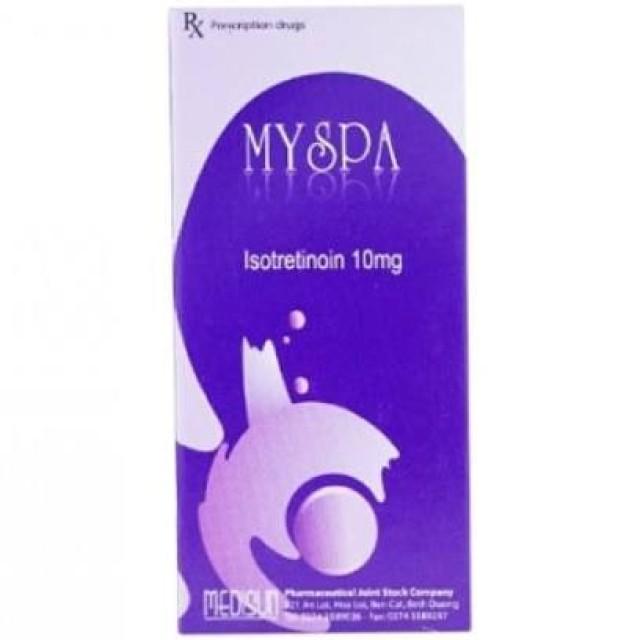MYSPA 10 mg H/30 viên ( viên uống ngừa mụn)