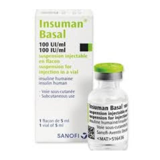 INSUMAN BASAL 100IU/5M