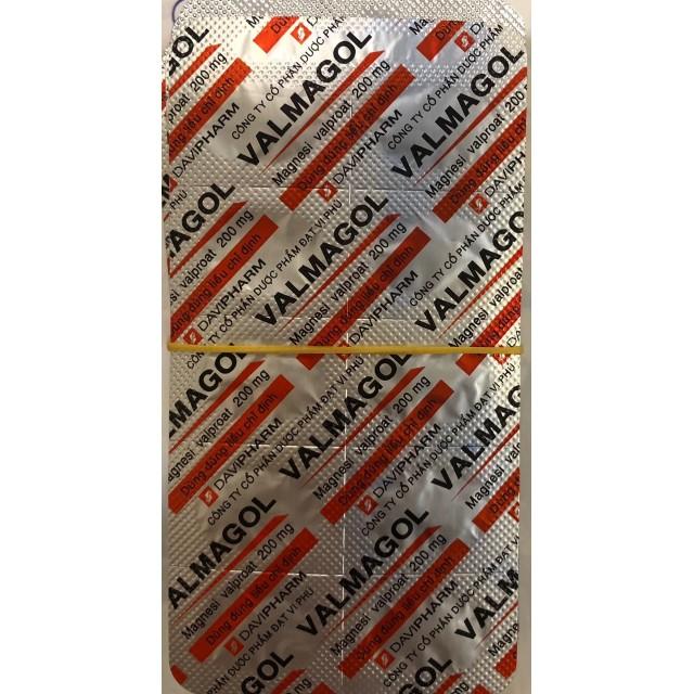 VALMAGOL 200 mg H/60 viên ( thuốc trị động kinh)