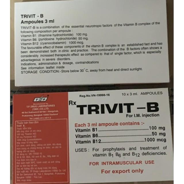 Trivit B Inj H/10 ống 3 ml