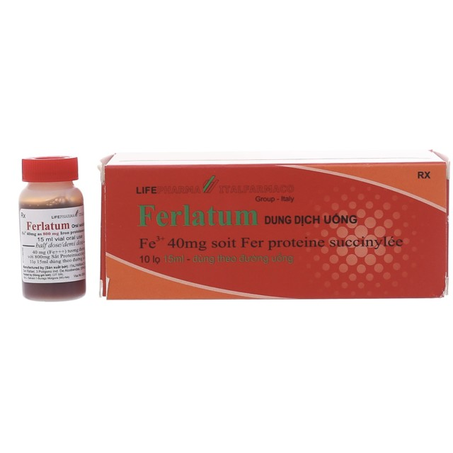 Ferlatum H/10 ống uống 15 ml ( bổ sung sắt)