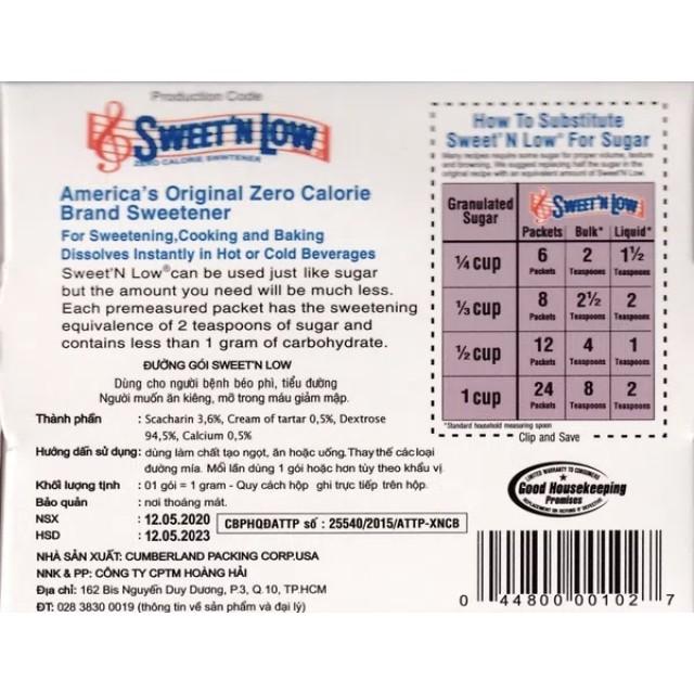 Sweetn Low H/100 Gói đường ăn kiêng