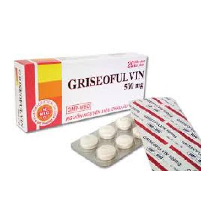 Griseofulvin 500mg H/20 viên
