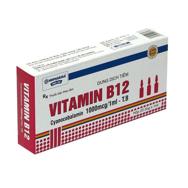 Vitamin B12 Inj 1000mcg/1ml H/100 ống 1 ml