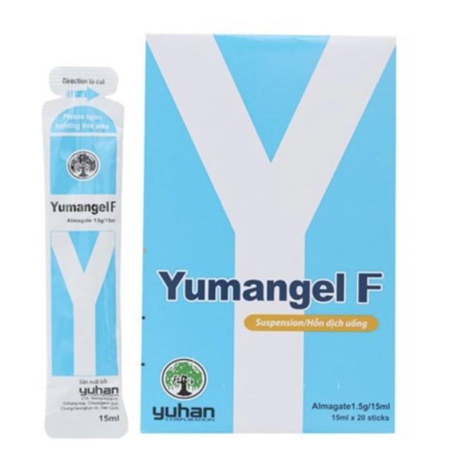 Yumangel F almagate 1,5g H/20 gói 15 ml( Thuốc trị loét dạ dày, tá tràng)