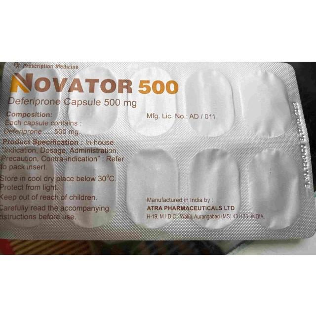 NOVATOR 500MG H/50 ( cấp cứu và giải độc do dư thừa sắt)
