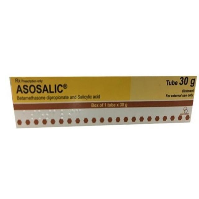 Asosalic 30 g Ointment (Betamethason) trị vẩy nến, viêm da dị ứng mãn tính, viêm thần kinh da, eczema.
