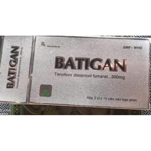 Batigan 300 (Tenofovir)H/30 viên (chỉ định cho người bệnh nhiễm HIV và viêm gan B mãn tính)