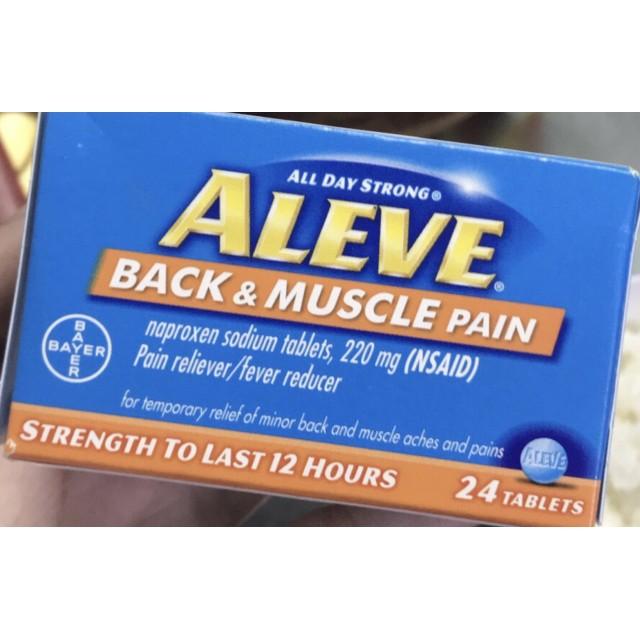 Aleve 220 mg Naproxen H/24 viên