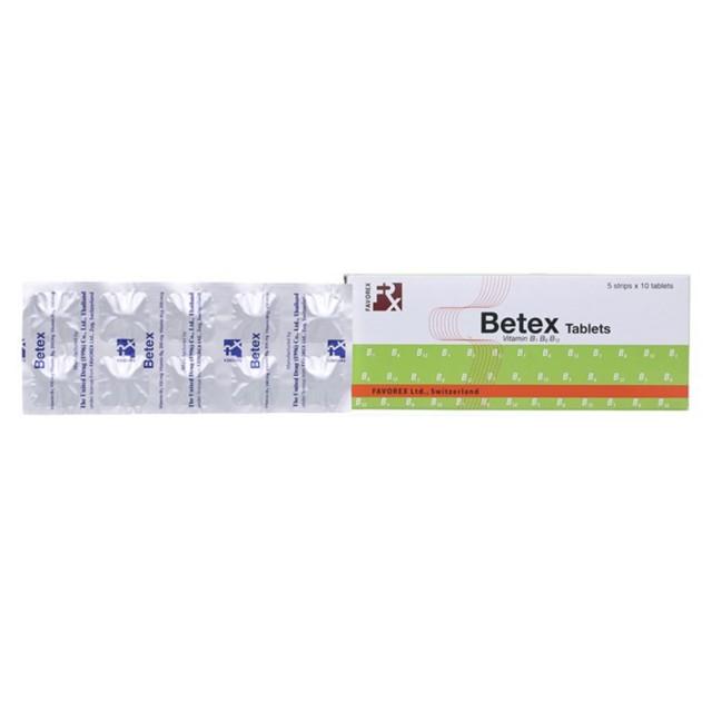 Betex H/50 viên ( vitamin B1, B6, B12)