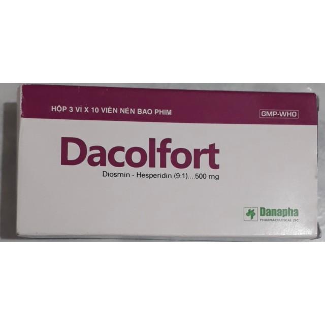 Dacolfort H/30 viên (trợ tĩnh mạch và bảo vệ mạch máu)