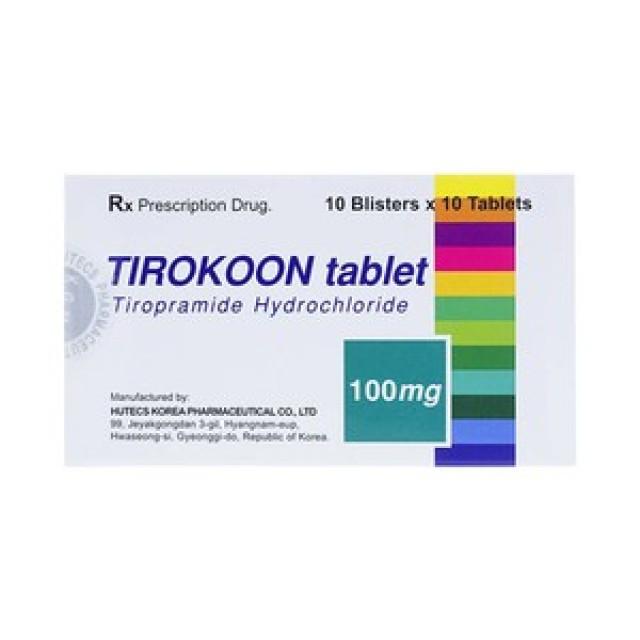 TIROKOON 100 mg H/ 100 viên CHỐNG CO THẮT CƠ TRƠN
