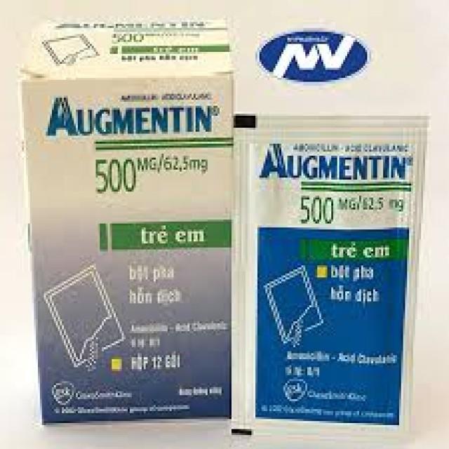 AUGMENTIN 500/62.5 Sac 500 mg H/12 gói