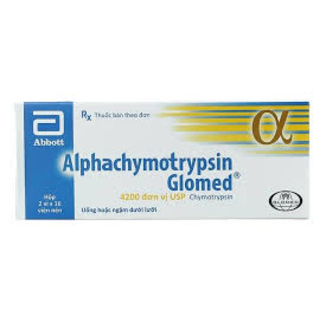 Alphachymotrypsin Glomed H/20 viên